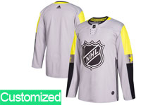 Mens 2018 Nhl All-star Game Custom Made Breakaway Adidas Gray Jersey