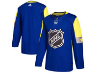 Mens 2018 Nhl All-star Game Blank Breakaway Adidas Blue Jersey