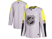 Mens 2018 Nhl All-star Game Blank Breakaway Adidas Gray Jersey