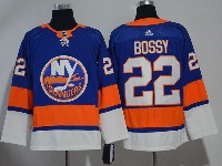 Mens Nhl New York Islanders #22 Mike Bossy Blue Adidas Jersey