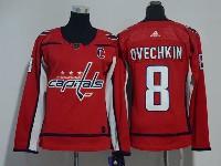 Women Nhl Washington Capitals #8 Alexander Ovechkin Red Adidas Jersey