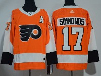 Mens Philadelphia Flyers #17 Wayne Simmonds Orange Adidas Jersey
