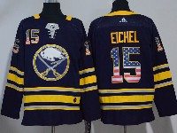 Mens Nhl Buffalo Sabres #15 Jack Eichel Usa Flag Fashion Dark Blue Adidas Jersey