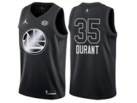 Mens Nba 2018 All Star Golden State Warriors #35 Kevin Durant Black Jersey