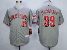 Mens Mlb Cincinnati Reds #39 Mesoraco Gray Cool Base Jersey
