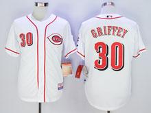 Mens Mlb Cincinnati Reds #30 Ken Griffey White Cool Base Jersey
