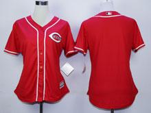 Women Majestic Cincinnati Reds Blank Red Cool Base Jersey