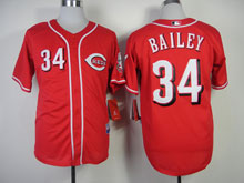 Mens Mlb Cincinnati Reds #34 Bailey Red Cool Base Jersey