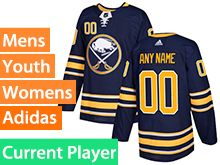 Mens Women Youth Adidas Buffalo Sabres Navy Blue Home Current Player Jersey