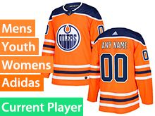 Mens Women Youth Adidas Edmonton Oilers Orange Alternate Current Player Jersey