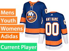 Mens Women Youth Adidas New York Islanders Blue Home Current Player Jersey