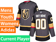 Mens Women Youth Adidas Vegas Golden Knights Gray Authentic Current Player Adidas Jersey