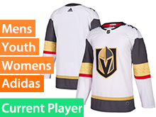 Mens Women Youth Adidas Vegas Golden Knights White Away Current Player Jersey