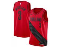Mens 2017-18 Season Nba Portland Trail Blazers #3 C.j. Mccollum Red Nike Jersey