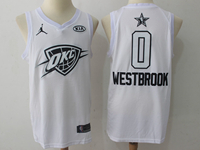 Mens Nba 2018 All Star Oklahoma City Thunder #0 Russell Westbrook White Jersey
