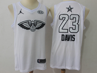 Mens 2018 All Star Nba New Orleans Pelicans #23 Anthony Davis White Jersey