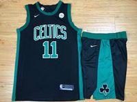 Mens Nba Boston Celtics #11 Kyrie Irving Black Nike Suit Jersey