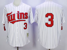 Mens Mlb Minnesota Twins #3 Killebrew White Blue Stripe ( No Name ) Throwback Jersey