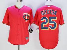 Mens Majestic Minnesota Twins #25 Byron Buxton Red Cool Base Jersey