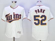 Mens Majestic Minnesota Twins #52 Park White Flex Base Jersey