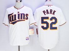 Mens Majestic Minnesota Twins #52 Park White Cool Base Jersey