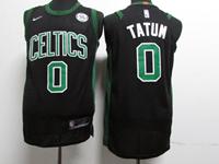 Youth Nba Boston Celtics #0 Jayson Tatum Black Swingman Nike Jersey