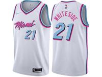Mens Nba Miami Heat #21 Hassan Whiteside White Nike Vice Uniform City Edition Swingman Jersey