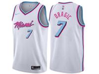 Mens Nba Miami Heat #7 Goran Dragic White Nike Vice Uniform City Edition Swingman Jersey