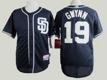 Mens Mlb San Diego Padres #19 Tony Gwynn Blue ( Sd ) Cool Base Baseball Jersey