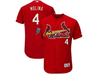 Mens Mlb St. Louis Cardinals #4 Yadier Molina Majestic Red 2018 Spring Training Cool Base Player Jersey