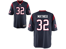 Mens Womens Youth Houston Texans #32 Tyrann Mathieu Nave Nike Game Jersey