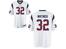 Mens Womens Youth Houston Texans #32 Tyrann Mathieu White Nike Game Jersey