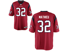 Mens Womens Youth Houston Texans #32 Tyrann Mathieu Red Nike Game Jersey