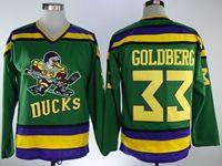 Mens Nhl Anaheim Mighty Ducks #33 Goldberg Green Movie Jersey