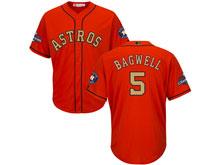 Mens Mlb Houston Astros #5 Jeff Bagwell Orange 2018 Gold Program Cool Base Player Jersey