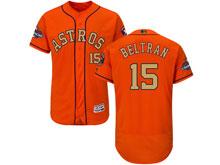 Mens Mlb Houston Astros #15 Carlos Beltran Orange 2018 Gold Program Flex Base Player Jersey