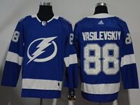 Mens Nhl Tampa Bay Lightning #88 Andrei Vasilevskiy Blue Home Breakaway Player Adidas Jersey