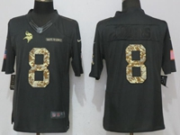 Mens Nfl Minnesota Vikings #8 Kirk Cousins Anthracite Salute To Service Nike Limited Jersey