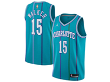 Mens Nba Charlotte Hornets #15 Kemba Walker Jordan Brand Teal Hardwood Classics Swingman Jersey