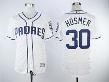 Mens Majestic San Diego Padres #30 Eric Hosmer White Flex Base Jersey