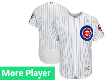 Mens Majestic Chicago Cubs White 2018 Mother's Day Home Flex Base Team Jersey