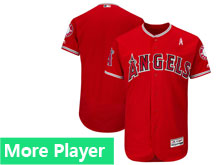 Mens Majestic Los Angeles Angels Red 2018 Mother's Day Home Flex Base Team Jersey