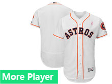 Mens Majestic Houston Astros White 2018 Mother's Day Home Flex Base Team Jersey