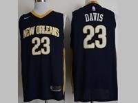 Mens 2017-18 Nba New Season New Orleans Pelicans #23 Anthony Davis Dark Blue Nike Jerseys