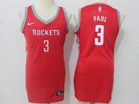 Women Nba Houston Rockets #3 Chris Paul Red Road Nike Jersey