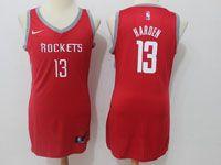 Women Nba Houston Rockets #13 James Harden Red Road Nike Jersey
