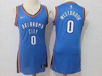 Women Nba Oklahoma City Thunder #0 Russell Westbrook Nike Blue Jersey