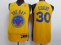 Mens Nba Golden State Warriors #30 Stephen Curry Gold Nike City Edition Swingman Jersey
