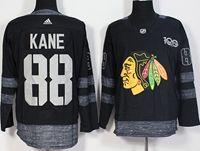 Mens Nhl Chicago Blackhawks #88 Patrick Kane 100th Anniversary Black Adidas Jersey