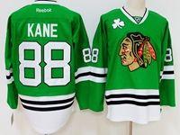 Mens Reebok Nhl Chicago Blackhawks #88 Patrick Kane Green Jersey